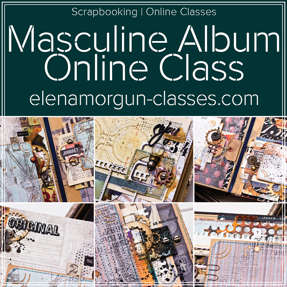 Masculine-Scrapbook-Album